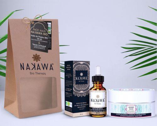 Pack Maxi - Huile de pépins de figue de barbarie bio 30ml +Masque visage argile verte - Nakawa Bio Therapy