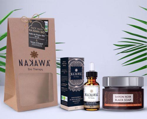 Pack Maxi - Huile de pépins de figue de barbarie bio 30ml + Savon Noir - Nakawa Bio Therapy