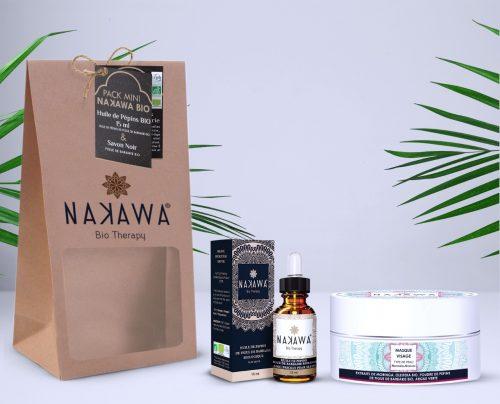 Pack Mini- Huile de pépins de figue de barbarie bio +Masque visage argile verte - Nakawa Bio Therapy
