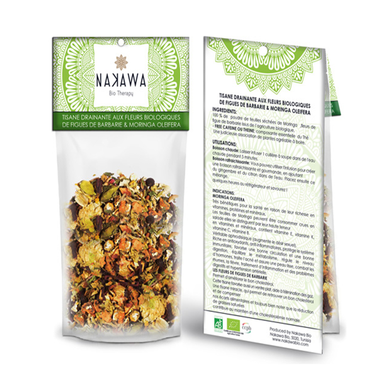 Tisane-drainante-aux-fleurs-biologiques 3 - Front and Back - Nakawa Bio