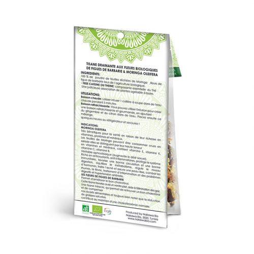 Tisane-drainante-aux-fleurs-biologiques - Back - Nakawa Bio