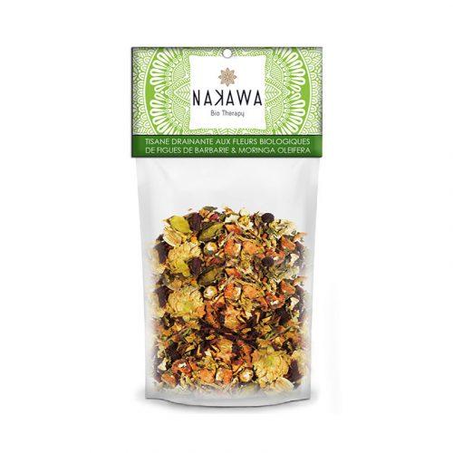 Tisane-drainante-aux-fleurs-biologiques - Front - Nakawa Bio