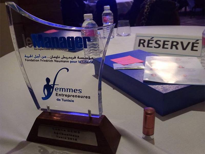 Prix de la meilleure femme entrepreneur de l'année 2018 - Le Manager Lobna Dems