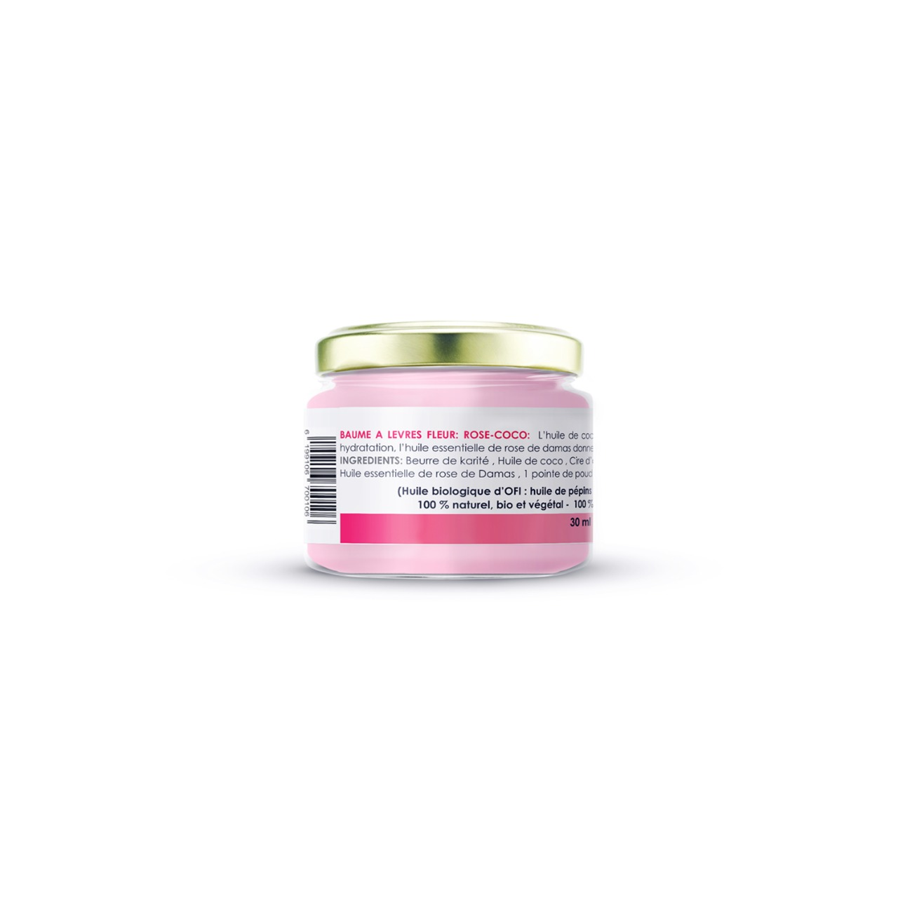 FLOWER LIP BALM - ROSE COCONUT 2 - Nakawa Bio Tunisia