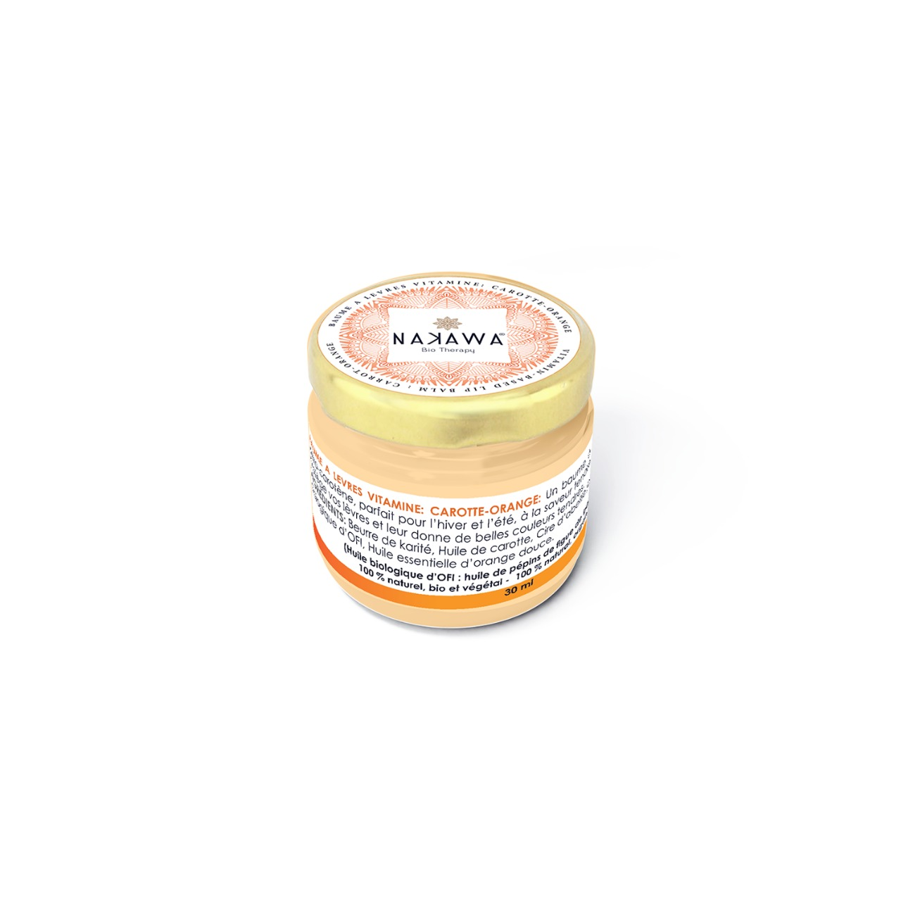 Vitamin-based Lip Balm - Carrot - Orange - Nakawa Bio Tunisia