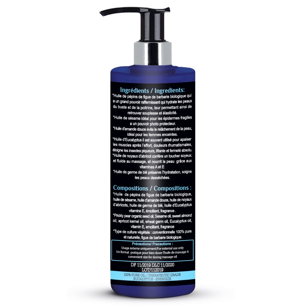 Huile de massage Eucalyptus - Nakawa Bio Therapy