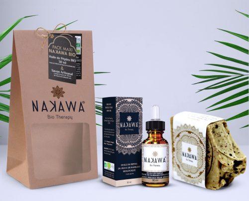 Pack Maxi - Huile de pépins de figue de barbarie bio 30ml +Savon froid biologique - Nakawa Bio Therapy