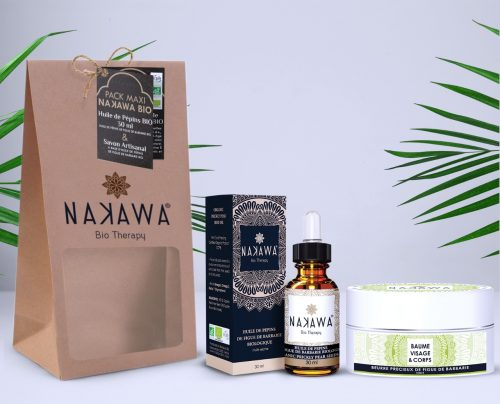 Pack Maxi - Huile de pépins de figue de barbarie bio 30ml +beurre précieux de figue de barbarie - nuit - Nakawa Bio Therapy