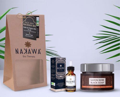 Pack Mini - Huile de pépins de figue de barbarie bio 15ml +Savon Noir - Nakawa Bio Therapy