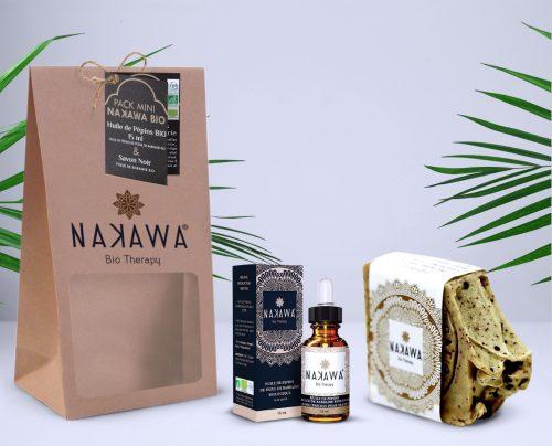Pack Mini - Huile de pépins de figue de barbarie bio 15ml +Savon froid biologique - Nakawa Bio Therapy