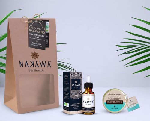 Pack Mini - Huile de pépins de figue de barbarie bio 15ml + baume déodorant - Nakawa Bio Therapy